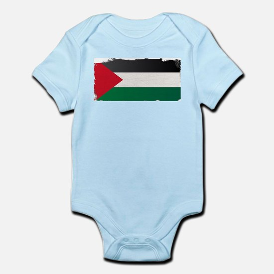 Flag of Palestine Grunge Body Suit