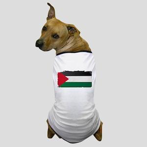 Flag of Palestine Grunge Dog T-Shirt