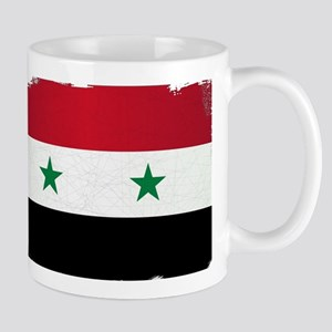 Flag of Syria Grunge Mugs