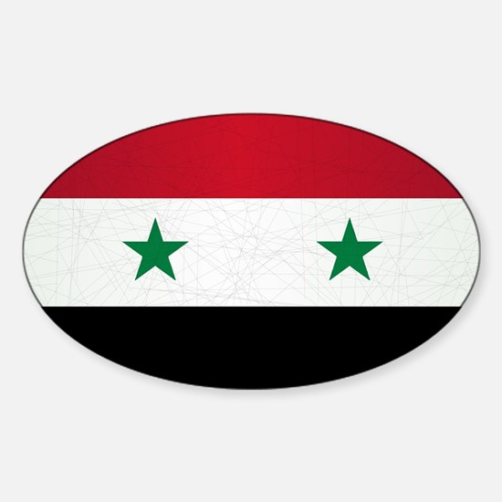 Flag of syria grunge decal