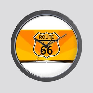 Route Sixty Six Wall Clock