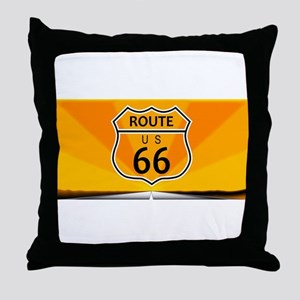 Route Sixty Six Throw Pillow