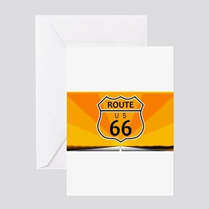 Route Sixty Six Greeting Cards