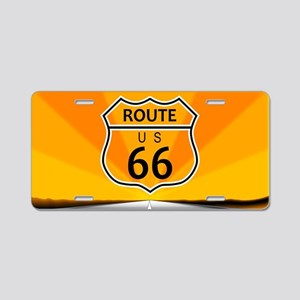 Route Sixty Six Aluminum License Plate