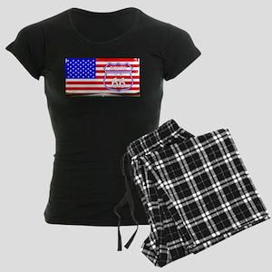 Route 66 Flag Women's Dark Pajamas