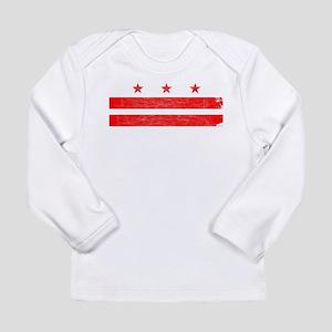 Washington DC State Flag Long Sleeve T-Shirt