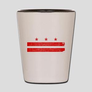 Washington DC State Flag Shot Glass