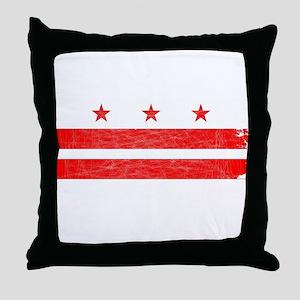 Washington DC State Flag Throw Pillow