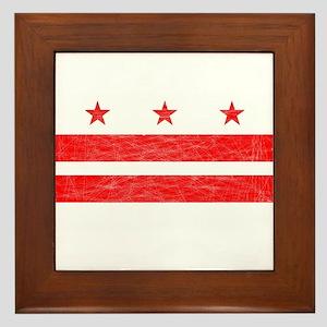 Washington DC State Flag Framed Tile