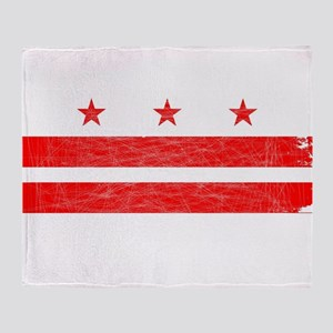 Washington DC State Flag Throw Blanket