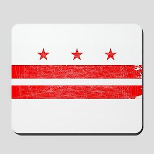 Washington DC State Flag Mousepad