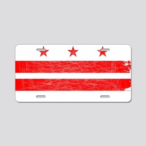 Washington DC State Flag Aluminum License Plate