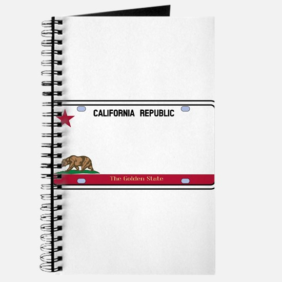 California License Plate Journal