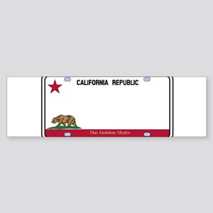California License Plate Bumper Sticker
