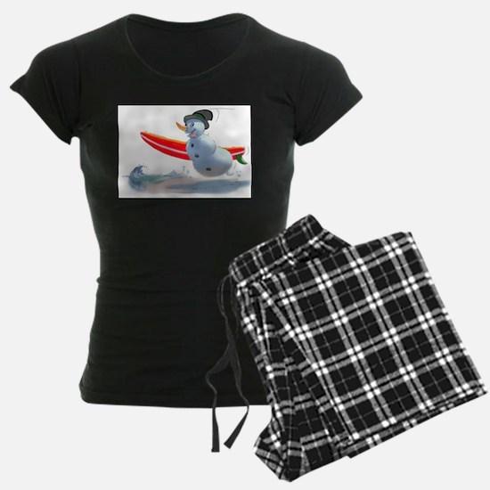 surfer snowman Pajamas