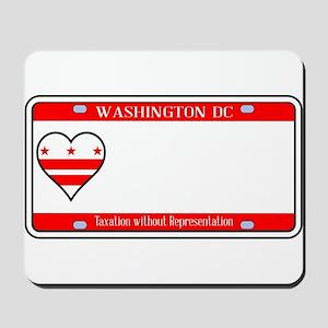 Washington DC License Plate Mousepad