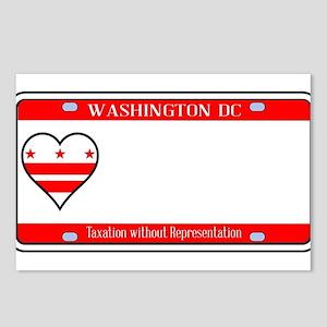 Washington DC License Pla Postcards (Package of 8)
