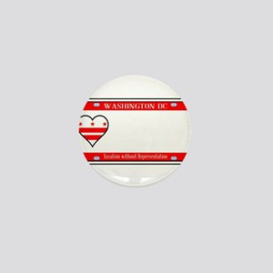 Washington DC License Plate Mini Button