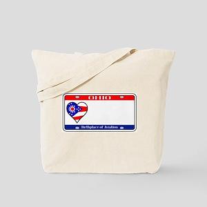 Ohio License Plate Tote Bag