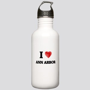 I Heart ANN ARBOR Stainless Water Bottle 1.0L