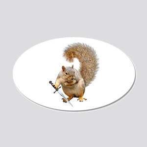 Fighting Squirrel Wall Decal