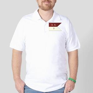 7th Cavalry Flag Golf Shirt