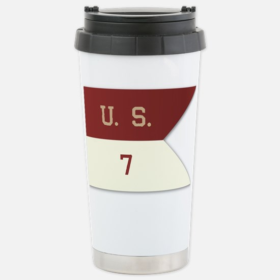 7th Cavalry Flag Stainless Steel Travel Mug