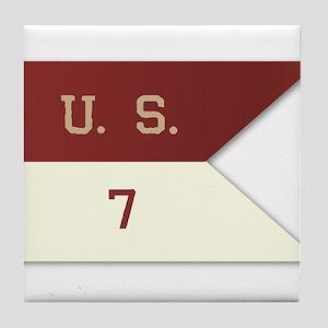 7th Cavalry Flag Tile Coaster