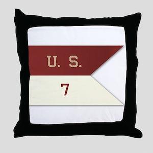 7th Cavalry Flag Throw Pillow