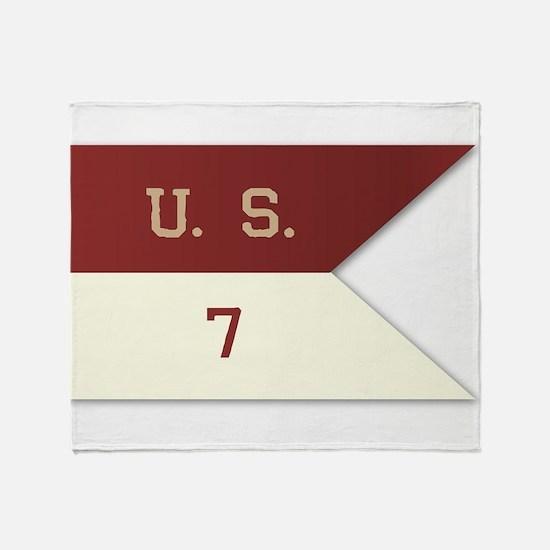 7th Cavalry Flag Throw Blanket