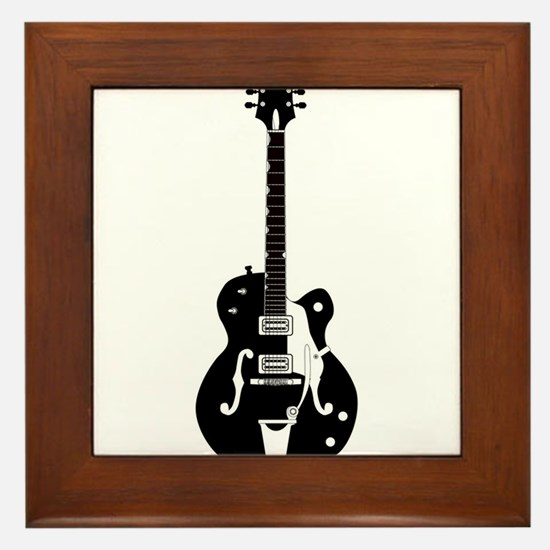 Country Guitar Framed Tile