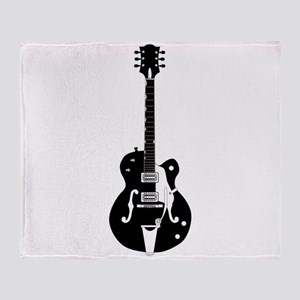 Country Guitar Throw Blanket