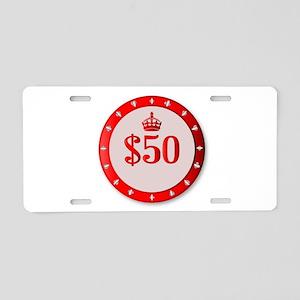 50 Dollar Chip Aluminum License Plate