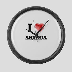 I Heart ARVADA Large Wall Clock