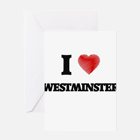 I Heart WESTMINSTER Greeting Cards