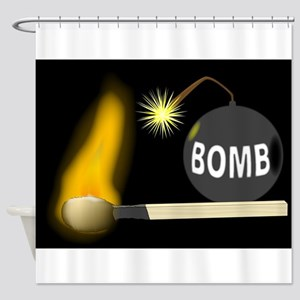 Bomb Shower Curtain