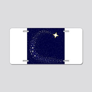 Shooting Star Aluminum License Plate