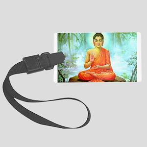 Peaceful Buddha Luggage Tag