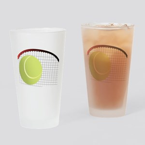 Tennis Ball and Racket Drinking Glass