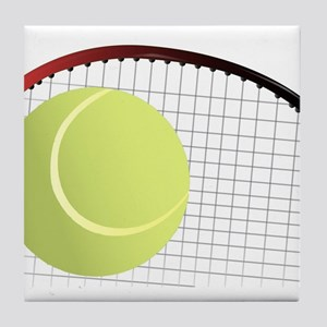 Tennis Ball and Racket Tile Coaster