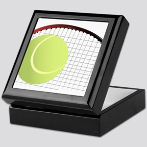 Tennis Ball and Racket Keepsake Box