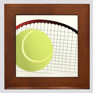 Tennis Ball and Racket Framed Tile