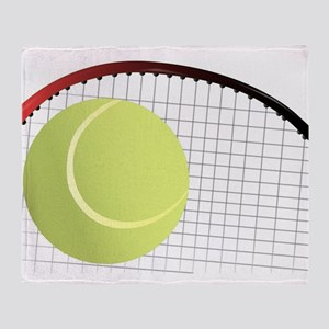 Tennis Ball and Racket Throw Blanket