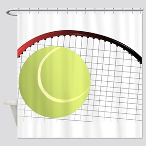 Tennis Ball and Racket Shower Curtain