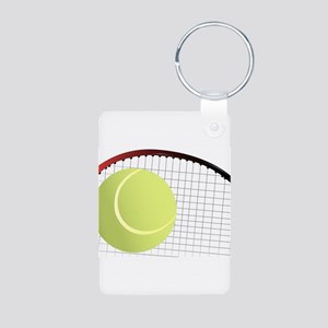 Tennis Ball and Racket Keychains