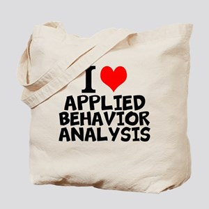 I Love Applied Behavior Analysis Tote Bag