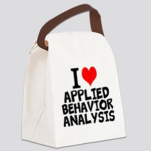 I Love Applied Behavior Analysis Canvas Lunch Bag