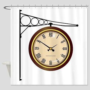 Station Clock Shower Curtain