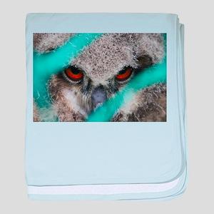 eyes of fire, young bird of prey baby blanket