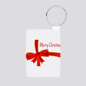 Merry Christmas Ribbon Keychains